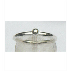Zilveren aanschuifring Amigas bal 3 mm