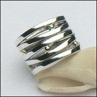 Handgemaakte zilveren ring Ischia van flamencosieraden.nl