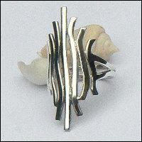 Handgemaakte zilveren design ring El fuego van flamencosieraden.nl