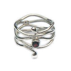 Handgemaakte zilveren design ring Suerte uit eigen atelier