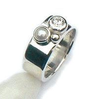 Handgemaakte zilveren design ring Belize uit eigen atelier