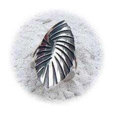 Handgemaakte zilveren ring La cebra van flamencosieraden.nl