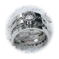Handgemaakte zilveren ring Confianza van goudsmidsatelier Flamenco