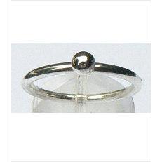 Zilveren aanschuifring Amigas bal 4 mm