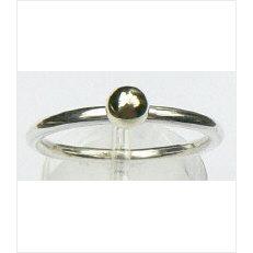Zilveren aanschuifring Amigas bal goud 4 mm