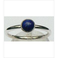 Zilveren aanschuifring Amigas met lapis lazuli 6 mm