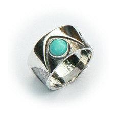 Handgemaakte zilveren ring La corona van flamencosieraden.nl