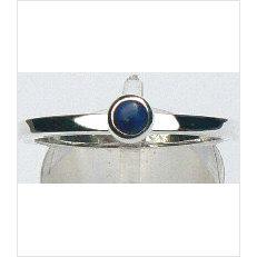 Zilveren aanschuifring Amigos met lapis lazuli 4 mm