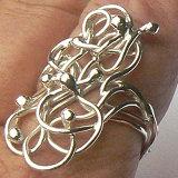 Handgemaakte zilveren ring Selva van edelsmid Flamenco