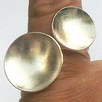 Handgemaakte zilveren ring UFOs