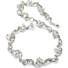 Handgemaakt zilveren collier El baile van flamencosieraden.nl