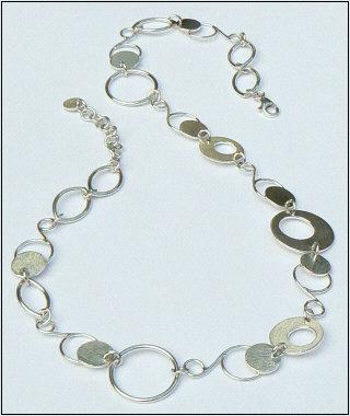 Handgemaakt zilveren collier Joya van goudsmidsatelier Flamenco