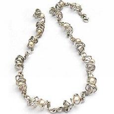 Handgemaakt zilveren collier La belleza van flamencosieraden.nl