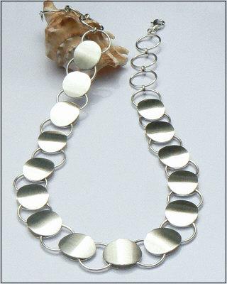 Handgemaakt zilveren collier El mundo