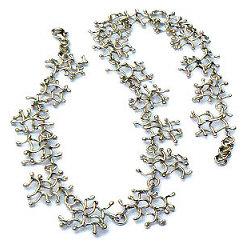 Handgemaakt zilveren collier Otoño van flamencosieraden.nl