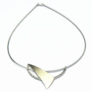 Handgemaakt zilveren design collier Libertad