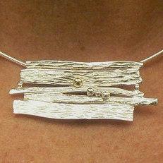 Handgemaakt zilveren halssieraad El otro lado van flamencosieraden.nl