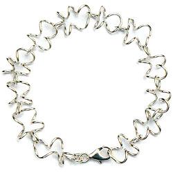 Handgemaakte zilveren design armband El meandro van goudsmidsatelier Flamenco