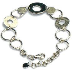 Handgemaakte zilveren armband Joya van flamencosieraden.nl