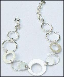 Handgemaakte zilveren design armband Joya van edelsmid Flamenco