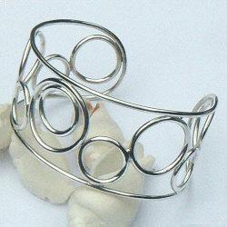 Handgemaakte zilveren design armband El deseo