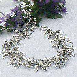 Handgemaakte zilveren design armband Otoño