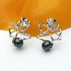 Handgemaakte zilveren oorstekers El rio van flamencosieraden.nl
