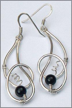 Handgemaakte zilveren oorhangers Fantasia