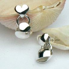Handgemaakte zilveren oorstekers El amor van flamencosieraden.nl
