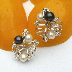 Handgemaakte zilveren oorstekers Belleza del arte van flamencosieraden.nl