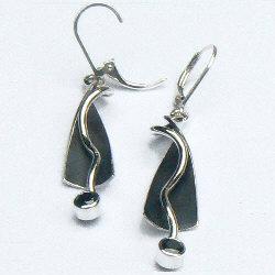 Handgemaakte zilveren oorhangers Als de vuelo