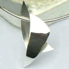 Handgemaakte zilveren hanger Los dos van goudsmidsatelier Flamenco