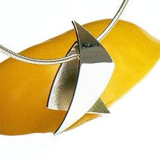 Handgemaakte zilveren hanger El estilo by Flamenco