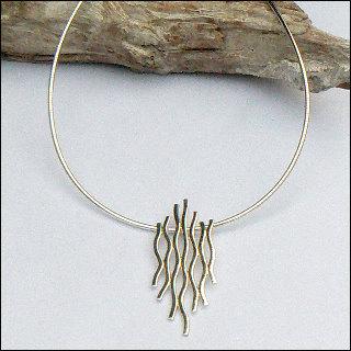 Handgemaakt zilveren design halssieraad El fuego van flamencosieraden.nl
