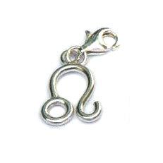 Handgemaakte zilveren bedel/hanger Leeuw