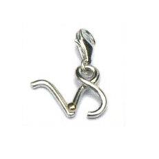 Handgemaakte zilveren bedel/hanger met goud Steenbok