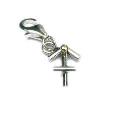 Handgemaakte zilveren bedel hanger met goud Boogschutter