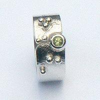 Handgemaakte zilveren ring Oasis van edelsmid flamencosieraden.nl