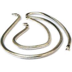 Zilveren slangenarmband met slangenketting 3 mm dik