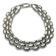 Zilveren schakelarmband (rolex)