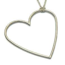 Zilveren hanger hart groot massief van flamencosieraden.nl