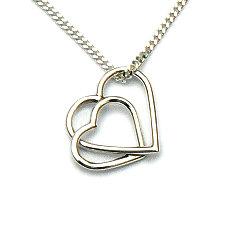 Handgemaakte zilveren hanger harten