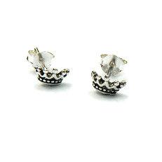 Zilveren oorstekers kroontjes