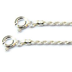 Zilveren koordcollier met armband met facetjes 2 mm