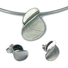 Moderne zilveren sieraden set