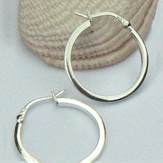 Zilveren creolen oorringen vierkant diverse diameters 2 mm