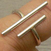 Massieve zilveren ring staafjes