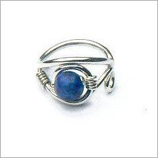Handgemaakte zilveren ring lapis lazuli
