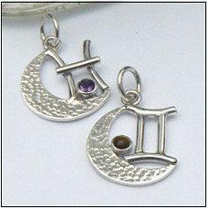 Handgemaakte zlveren sterrenbeeld hangers in het klein