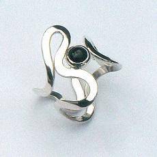 Handgemaakte zilveren ring Salsa van flamencosieraden.nl